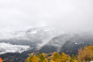 Snow Storm in Rocky Mountains