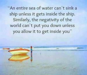 ship - water - negativity
