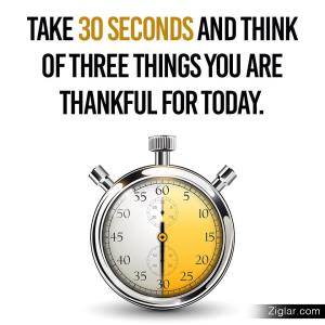 Think 3 things 2 b thankful 4