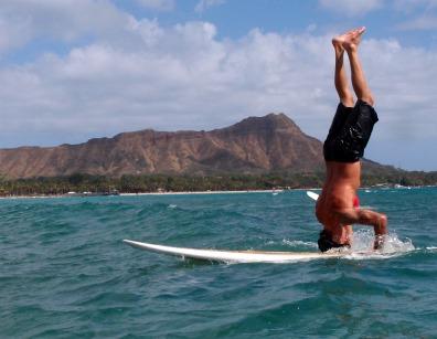 Christina's surfing teacher