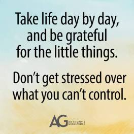 Take life day by day